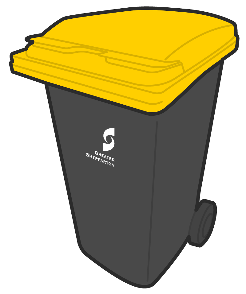 Yellow Lid Bin (Recycle) - Greater Shepparton City Council