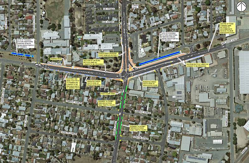Balaclava Road Verney Road Intersection Upgrade - Revised layout plan following community consultation