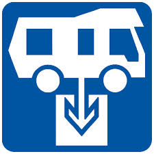 Look for the Caravan and RV dump point symbol.