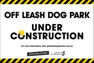 Off leash dog park under construction