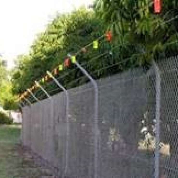 A fence made with safe tags