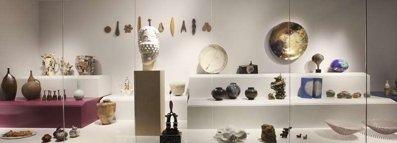 Ceramic art cabinet at the Shepparton Art Museum