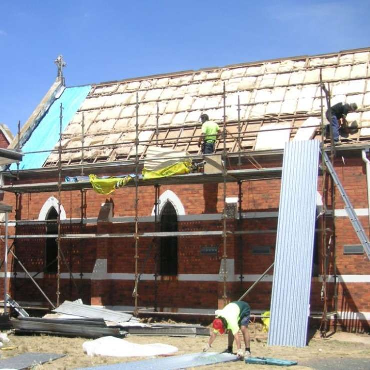 Springvale Church during restoration