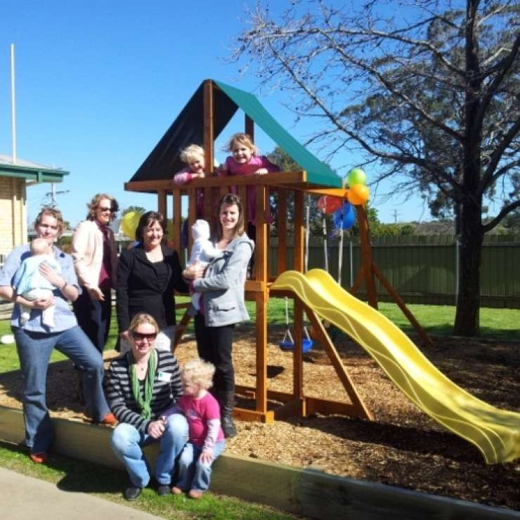 "Australian Breastfeeding Association - Cubby House/Play Equipment - ""We received a Community Matching Grant to create an outdoor play space. It has been great for the little ones to be able to play outside in a safe environment!"""