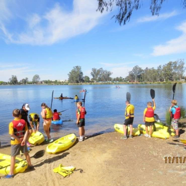 "Shepparton Canoe Club - Junior Outrigger Paddling and Safety - ""We used our grant to purchase equipment and training for instructors. We now have 15 enthusiastic junior paddlers with more juniors waiting to join. We have equipment available so they can try the sport at no cost. The benefits are healthy family activities at a minimal cost with children and adults getting out in the fresh air and exercising.  A great community use for Victoria Lake."""