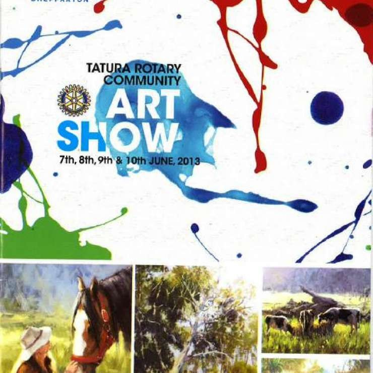 Rotary Club of Tatura - Community Art Show Nursing Homes Day - The object of Nursing Homes Day, as part of the Tatura Rotary Club's Annual Art Show, was to dedicate the day to enable residents of nursing homes to enjoy an outing and reconnect with the local community.  Residents and their carers were treated to morning tea, a guided tour of the art exhibits by community volunteers, and a 2 course luncheon.  Feedback was that residents thoroughly enjoyed their day out and talked about it for days.