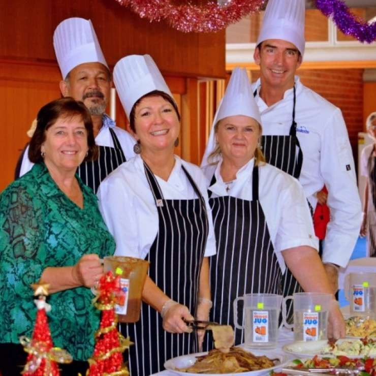 Christmas for Those Alone - Christmas for Those Alone provides a free Christmas lunch for anyone who is alone or unable to have a Christmas meal with family or friends.  The project relies entirely on public support and goodwill.  35 Volunteers join with the small Committee of 12 to provide the lunch for over 300 community members.