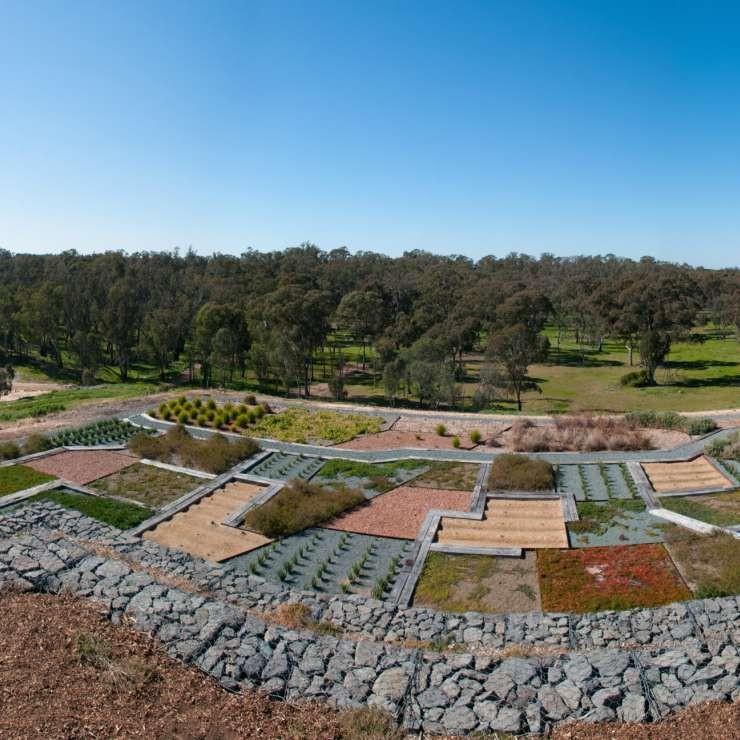 Panoramic of terraces