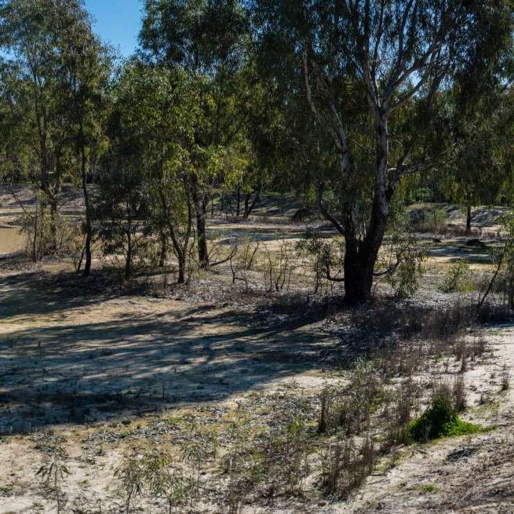 Panoramic to intermittent wetlands