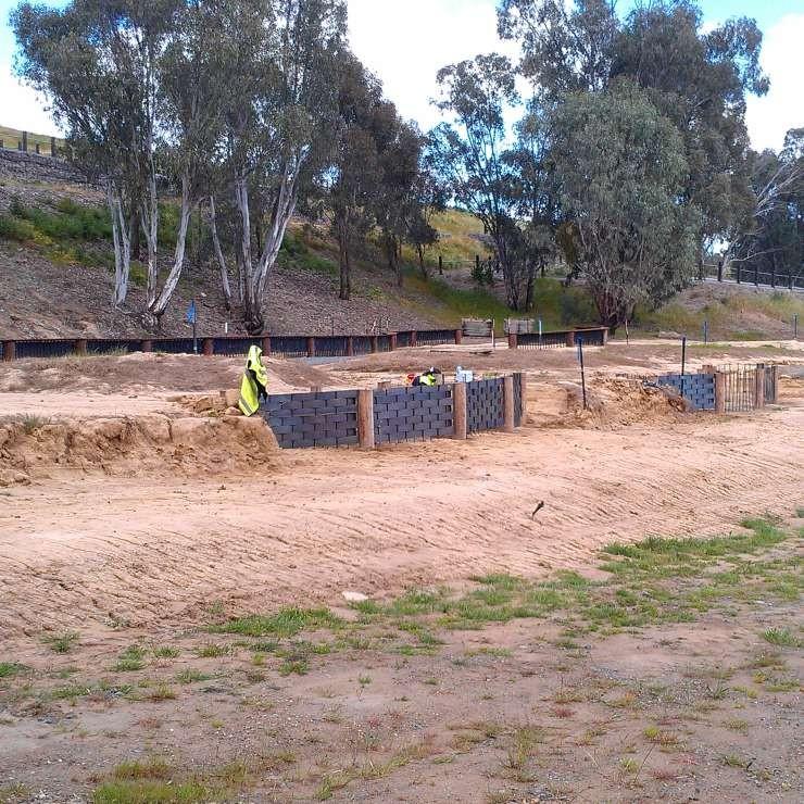 Indigenous Weaving Garden under construction