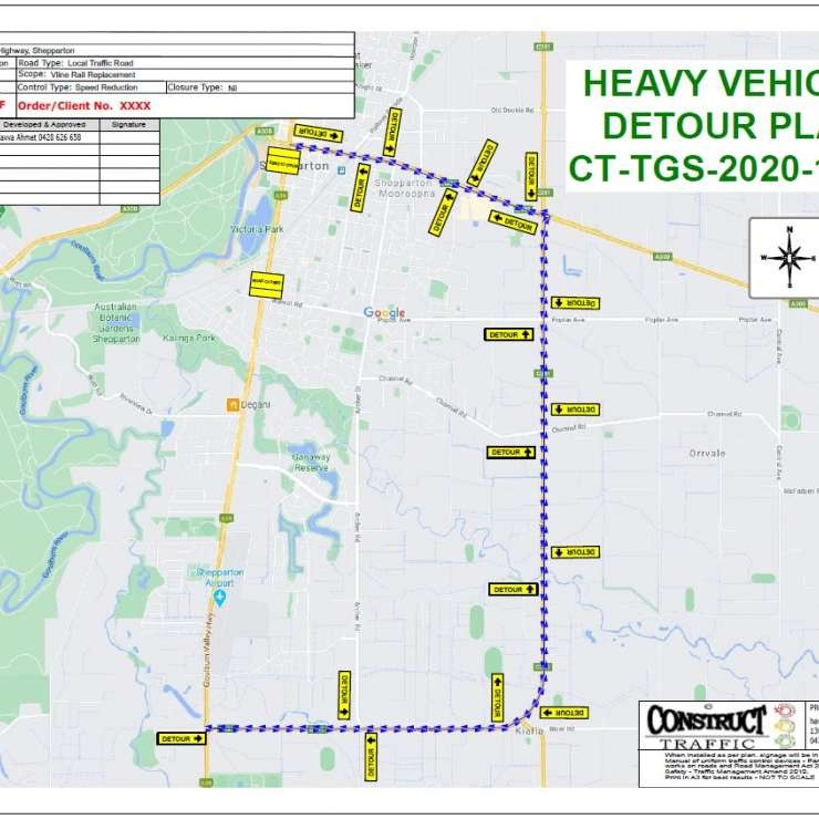 Heavy Vehicle Detour Plan.