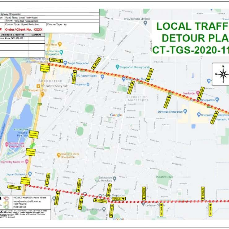 Local Traffic Detour Plan