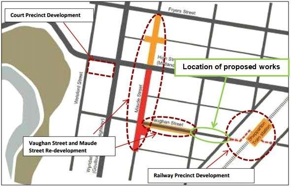The streetscaping works are to be carried out between Corio and Hoskin Streets.