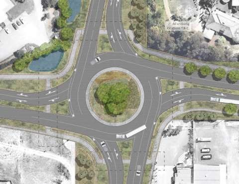 Ford Road / Goulburn Valley Highway / Wanganui Road Intersection