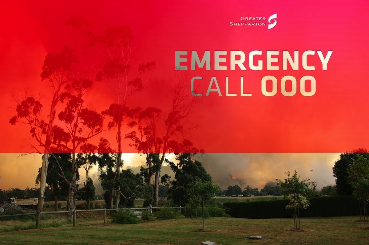 "In an emergency, call ""000""."