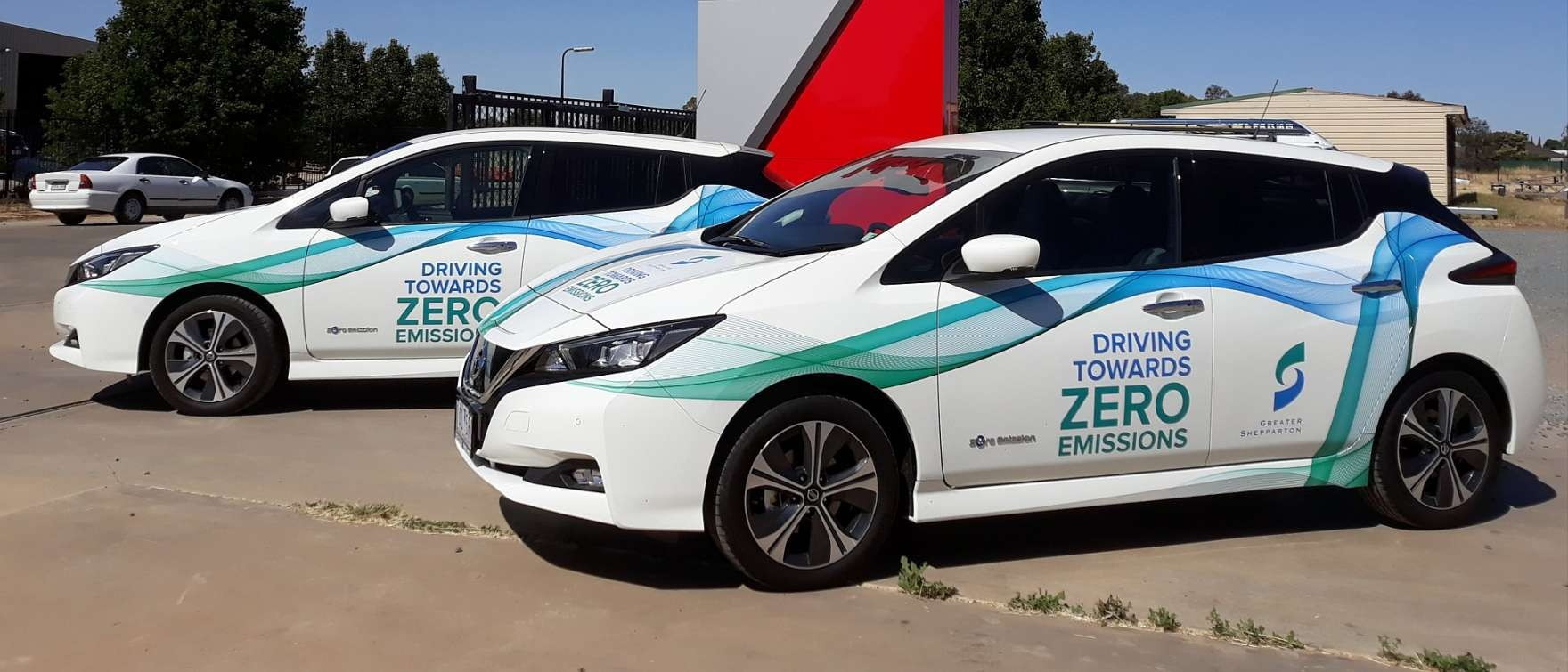 Council's two fully electric Nissan Leaf vehicles aim to reduce our greenhouse gas emissions and pollution.