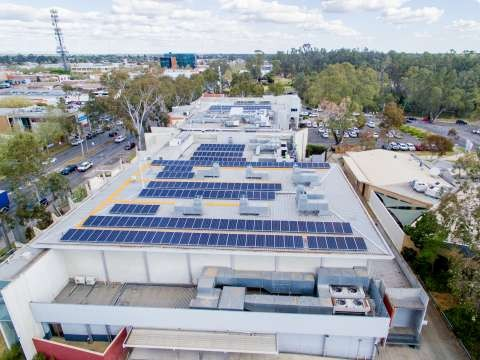 Solar panels installed at Council's Welsford Street offices in 2018