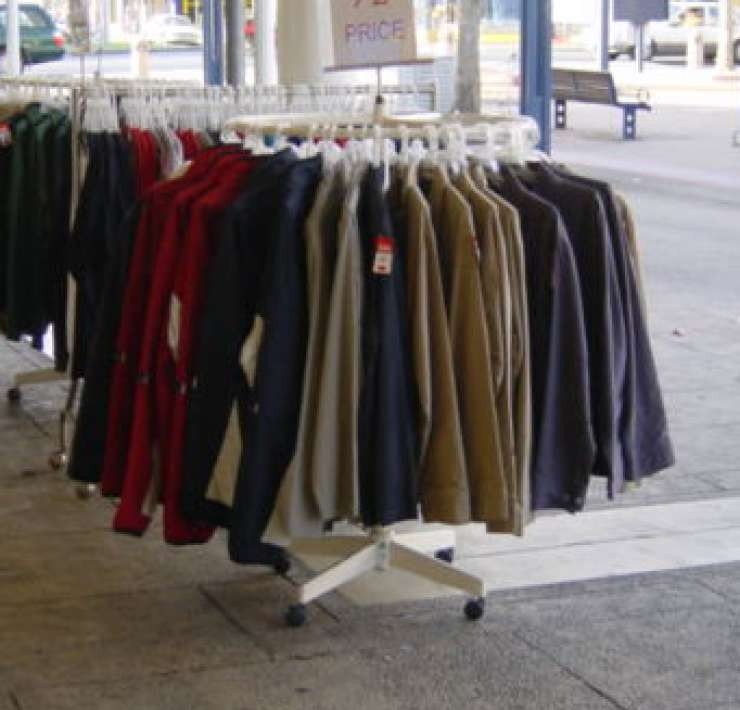 Photo of clothing racks.