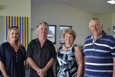 From left to right, Deb McKinnon, Col Opray, Joan Barker, John Barker.