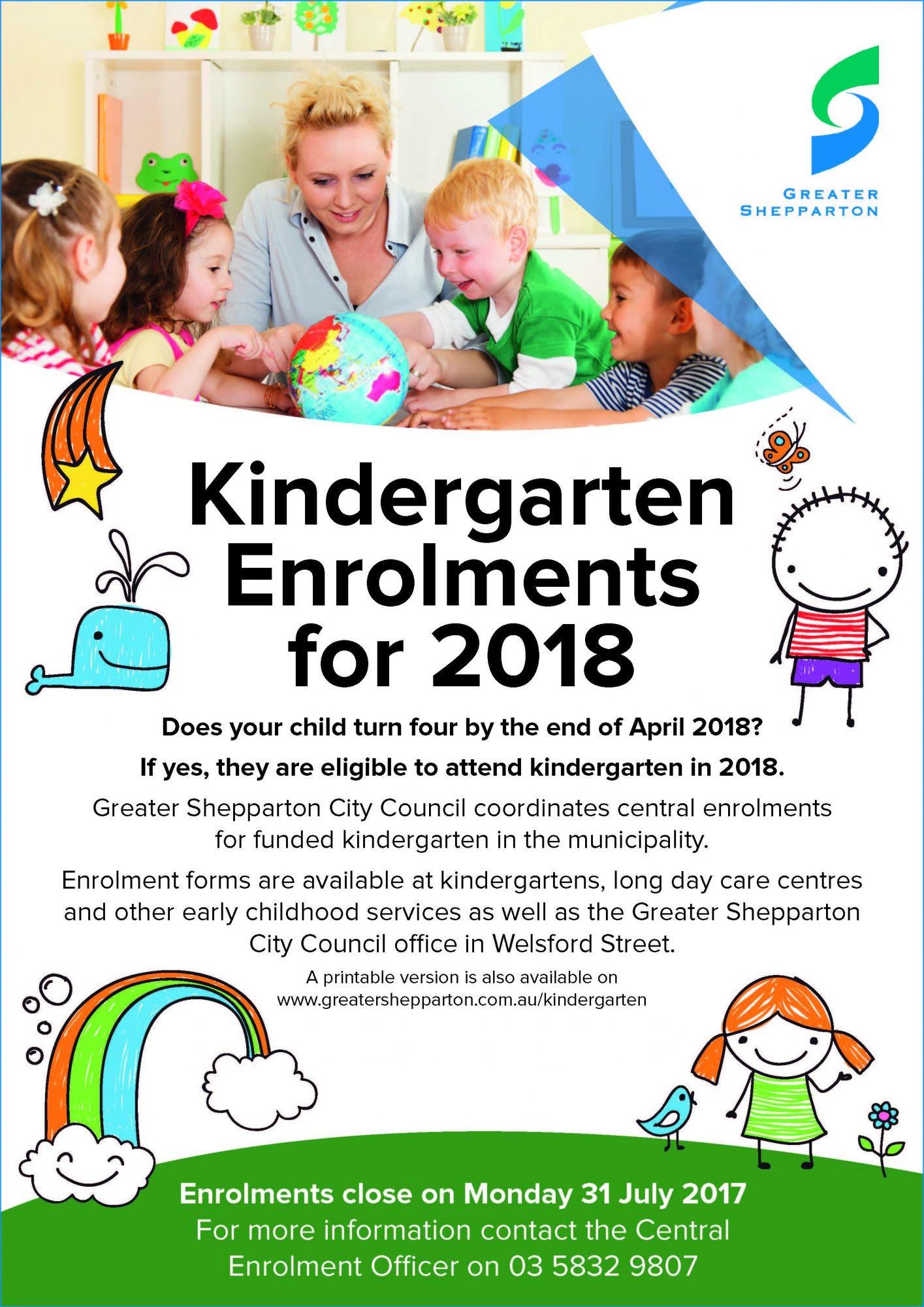 kindergarten enrolments for 2018 now open greater. Black Bedroom Furniture Sets. Home Design Ideas
