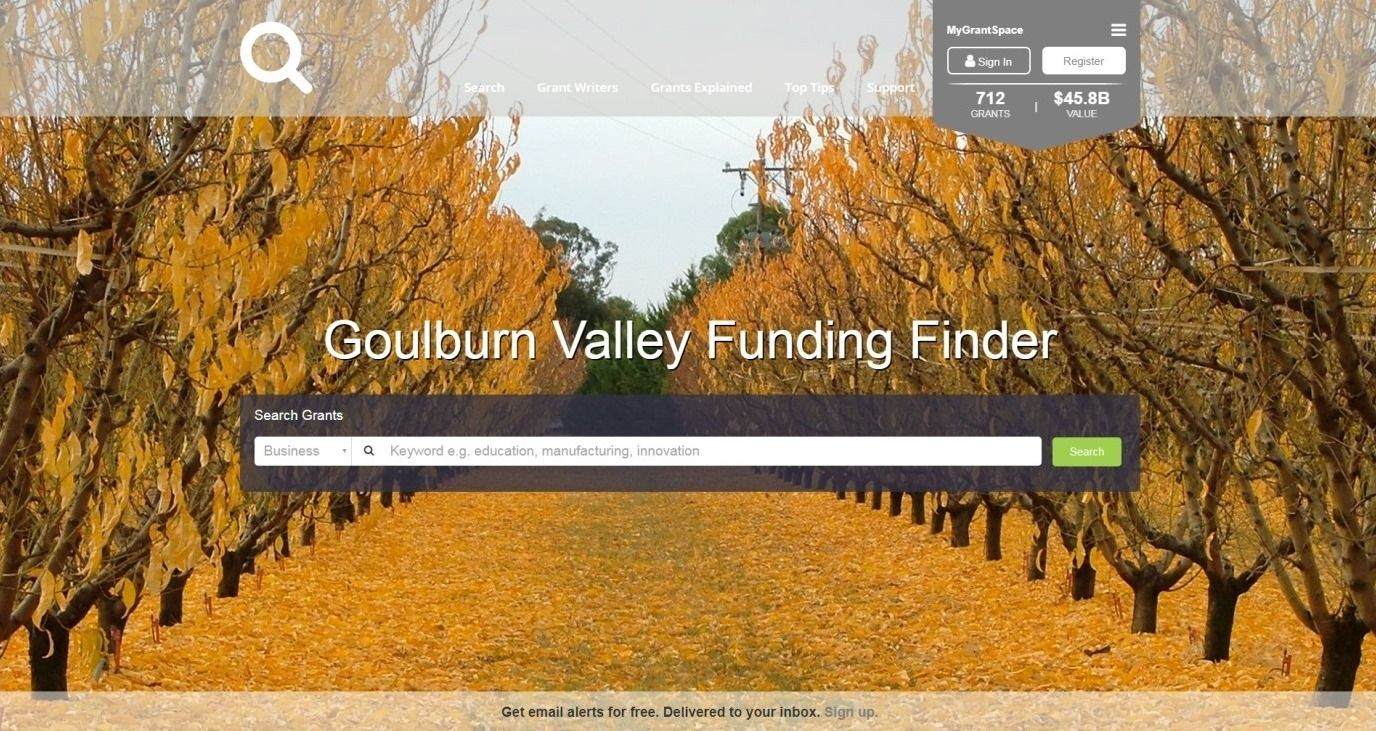Discover grants with Goulburn Valley Funding Finder - Greater