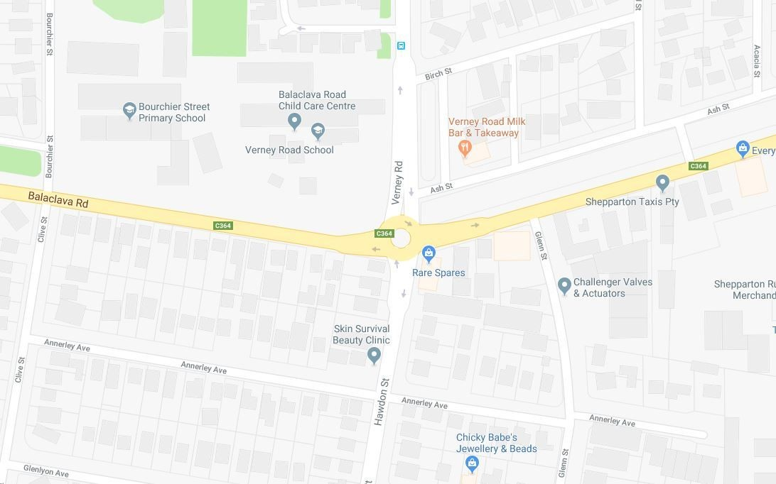 Verney and Balaclava Road intersection upgrade community