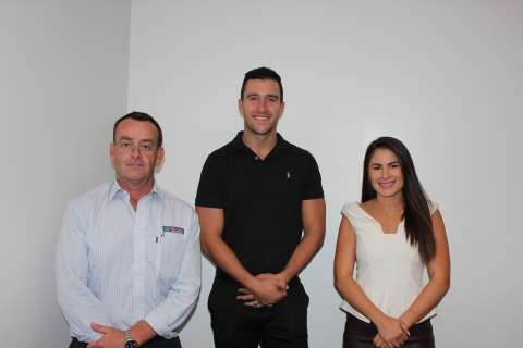 New Shepparton Show Me office bearers from left, Andrew Pogue, Shane Sali and Kristina Marko.