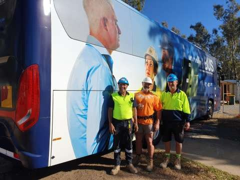 Blue Hats is a program looking after the wellbeing of construction workers.