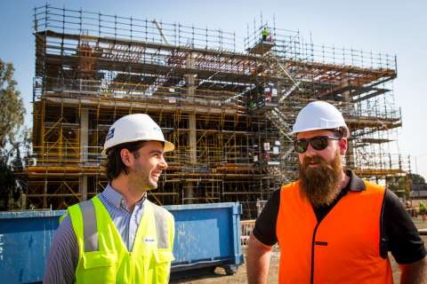 Kane Constructions, Callum Parrotte and Foot Waste Solutions Operations Manager, Zane Foott.