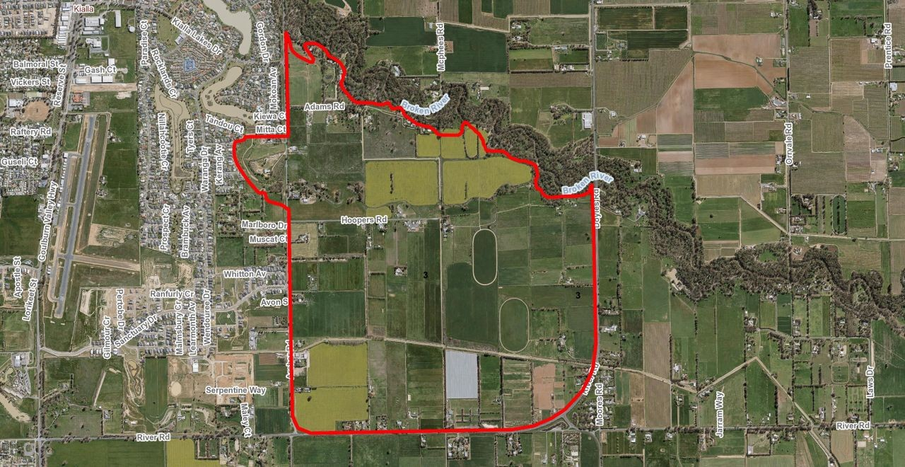 Land identified as Former Investigation Area 3. Click for an enlargement.