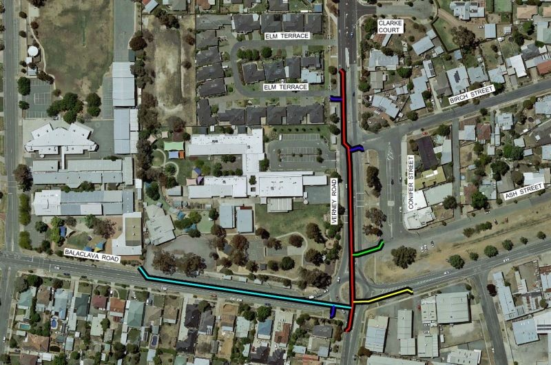 Balaclava and Verney Road Intersection Upgrade - Water Main Map