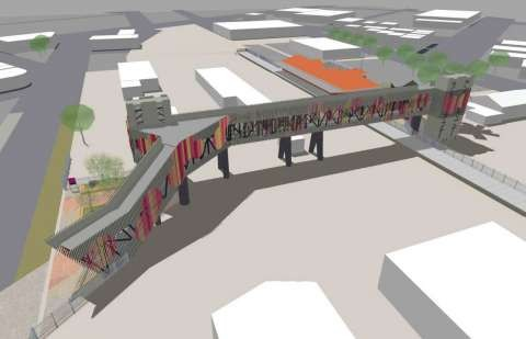 Shepparton Railway Station Pedestrian Overpass Original Concept Plan from October 2018