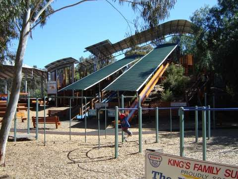 Giant Slides Monkey Bars at SPC Ardmona KidsTown