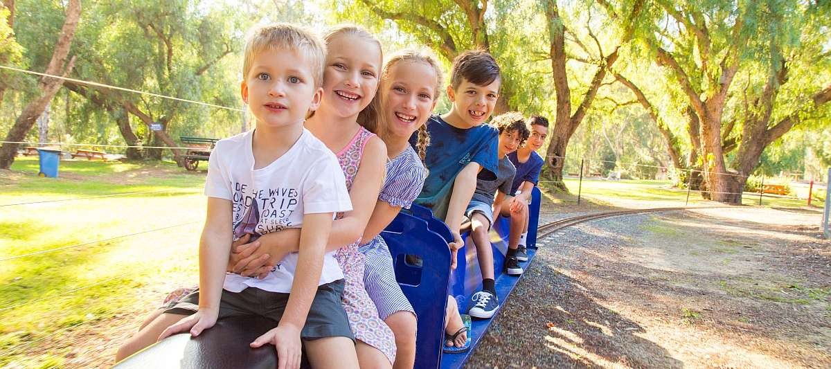 The miniature train rides at SPC KidsTown operate every weekend, public holidays and Victorian school holidays.