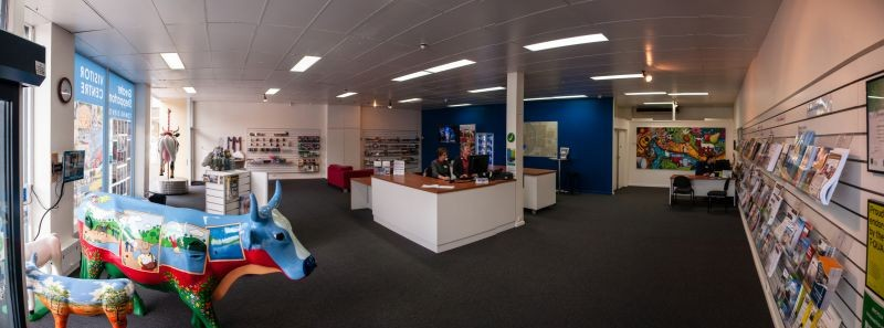 Inside the Greater Shepparton Visitor Centre
